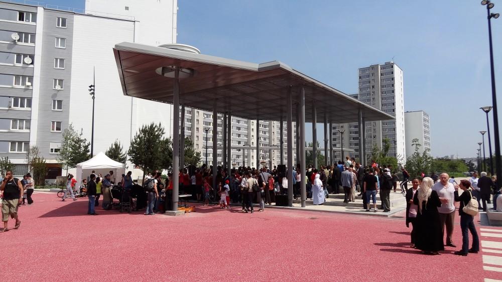 Inauguration de la Place Rouge du parc du Franc-Moisin