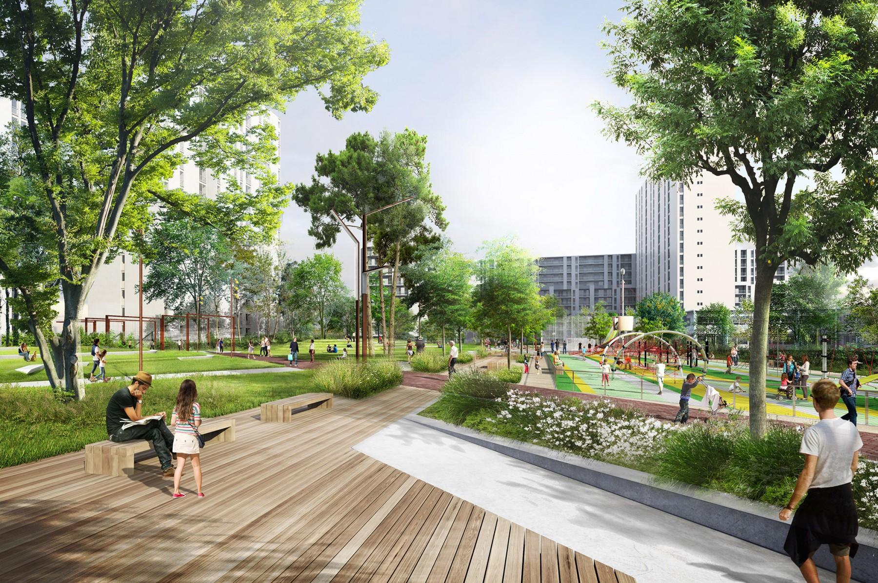Parc diderot la compagnie du paysage for Architecture des jardins et du paysage