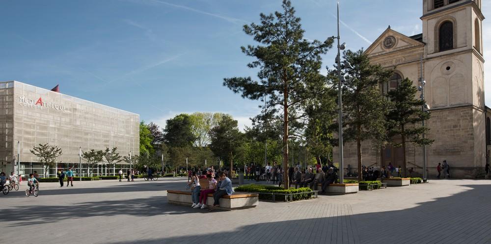 Centre ville d 39 epinay sur seine la compagnie du paysage for Piscine epinay sur seine