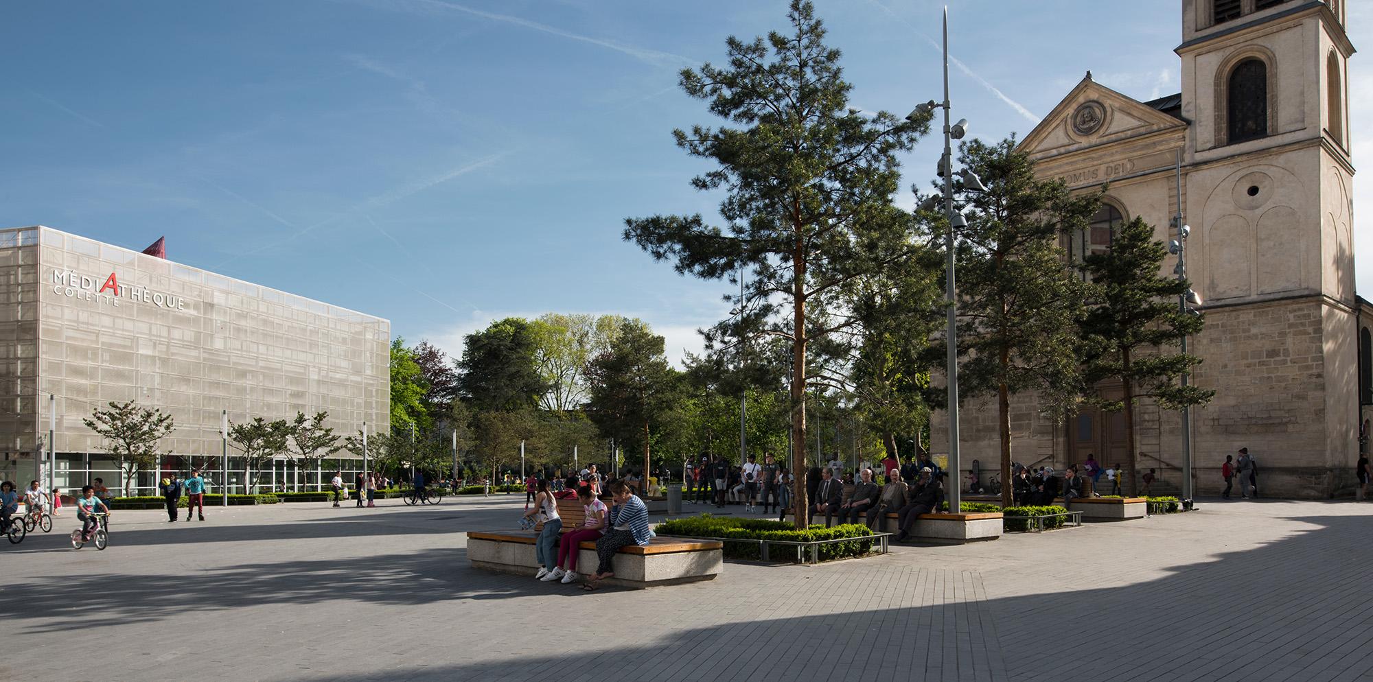 La place-jardin René Clair