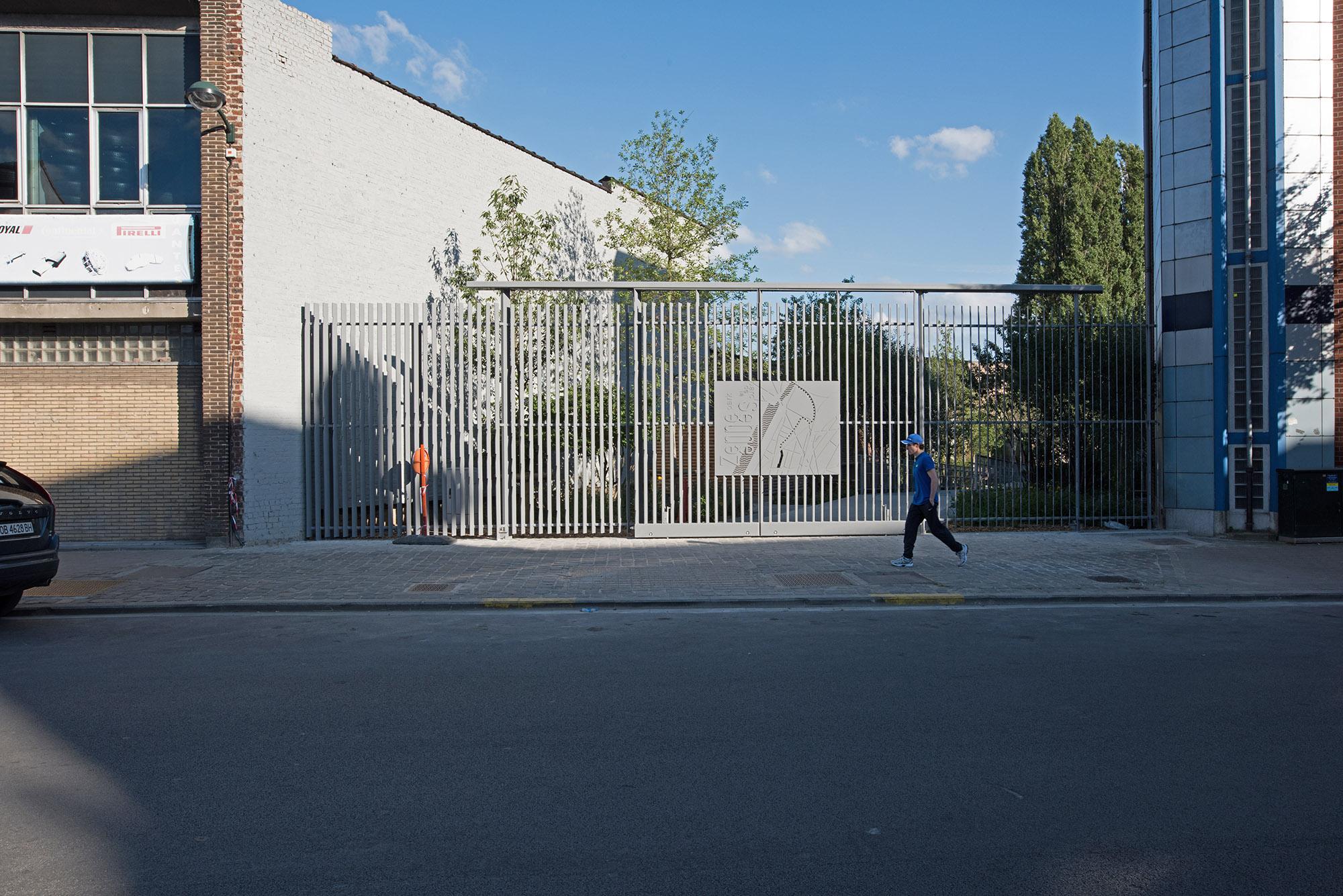 Clôture d'entrée du parc de Senne