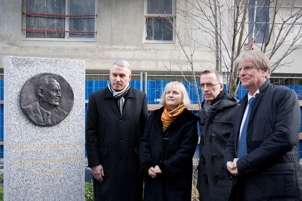 Inauguration de la Stèle Gilbert Bonnemaison