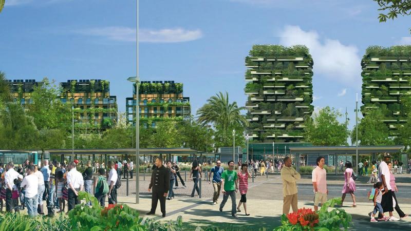 Vue sur un secteur urbanisé
