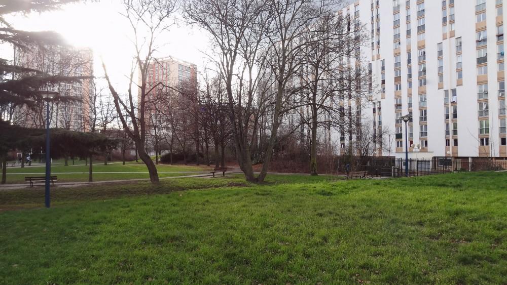 Vue sur l'actuel parc Diderot à Pantin