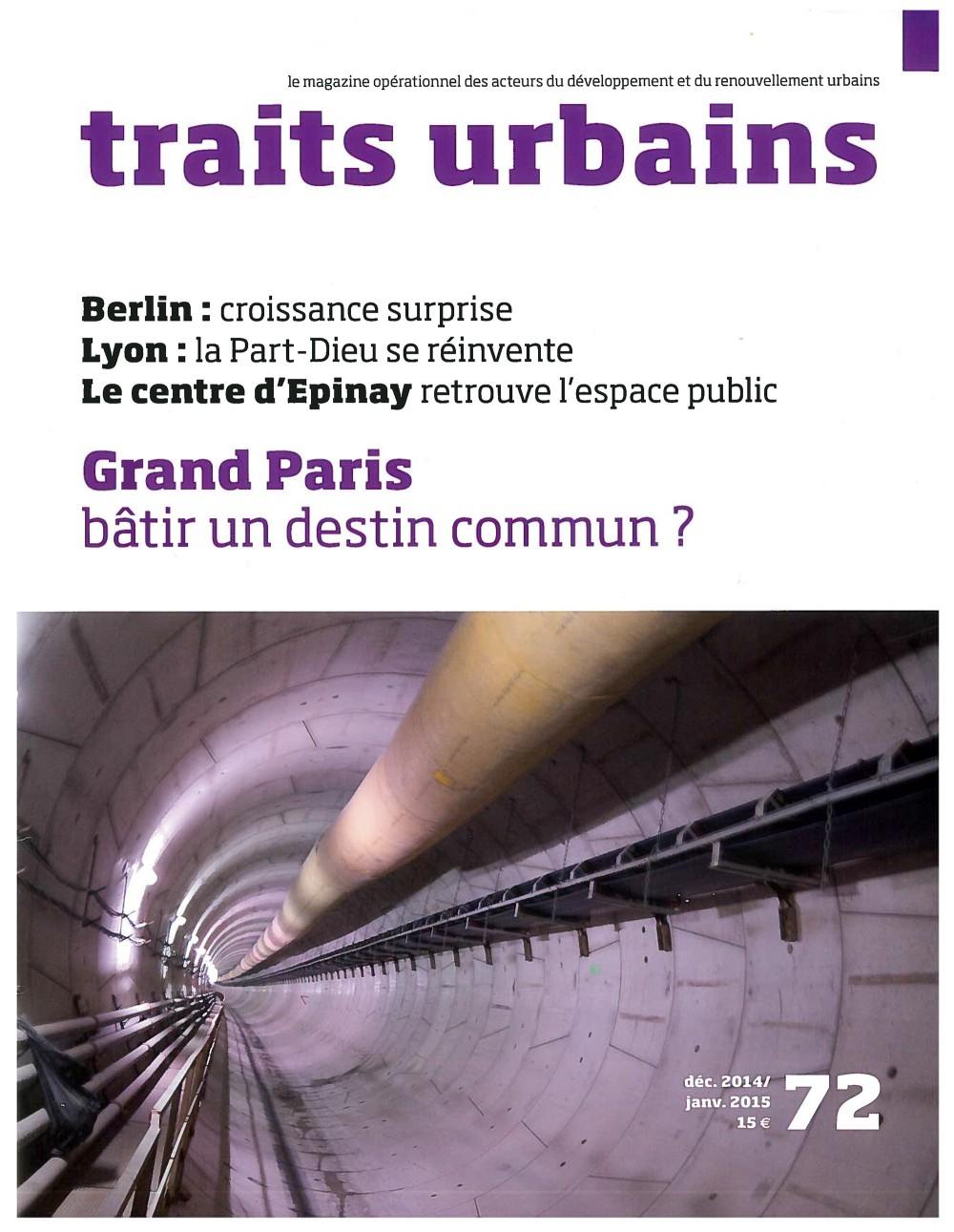 Traits urbains numéro 72 - Le centre d'epinay retrouve l'espace public