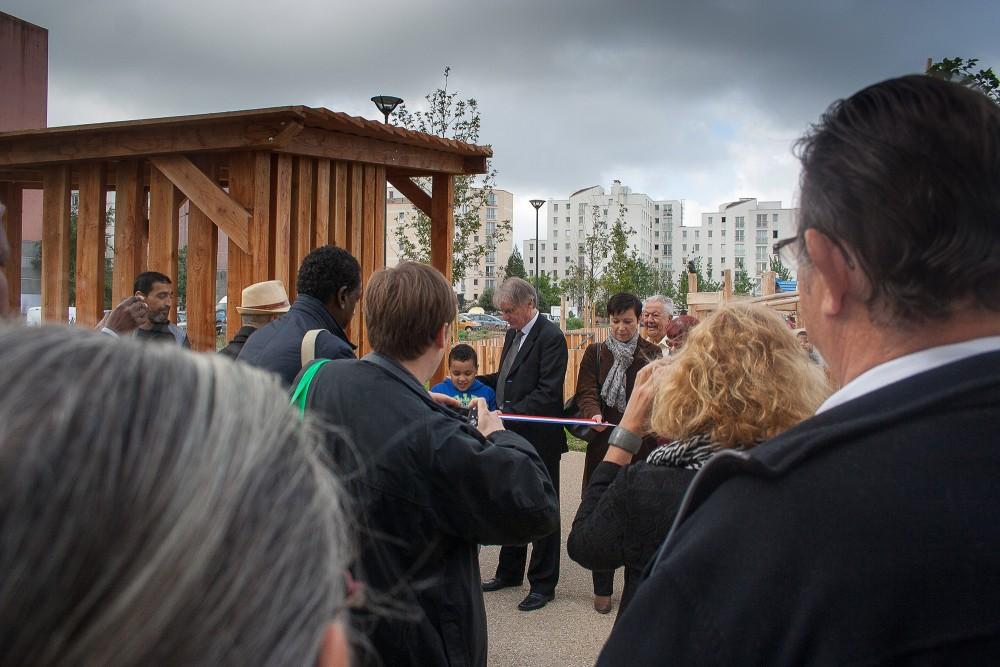 Inauguration de la dernière tranche du parc du Franc-Moisin par Patrick Braouezec, Président de Plaine Commune