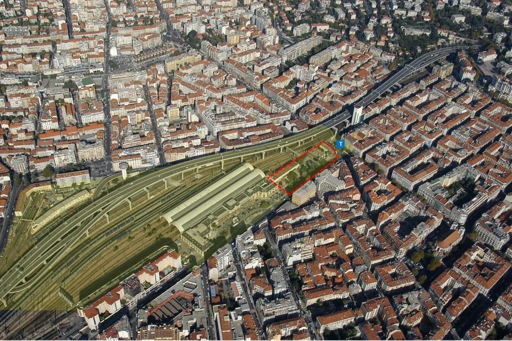 Périmètre opérationnel de l'opération immobilière entra la Gare Thiers et l'avenue Jean Médecin à Nice