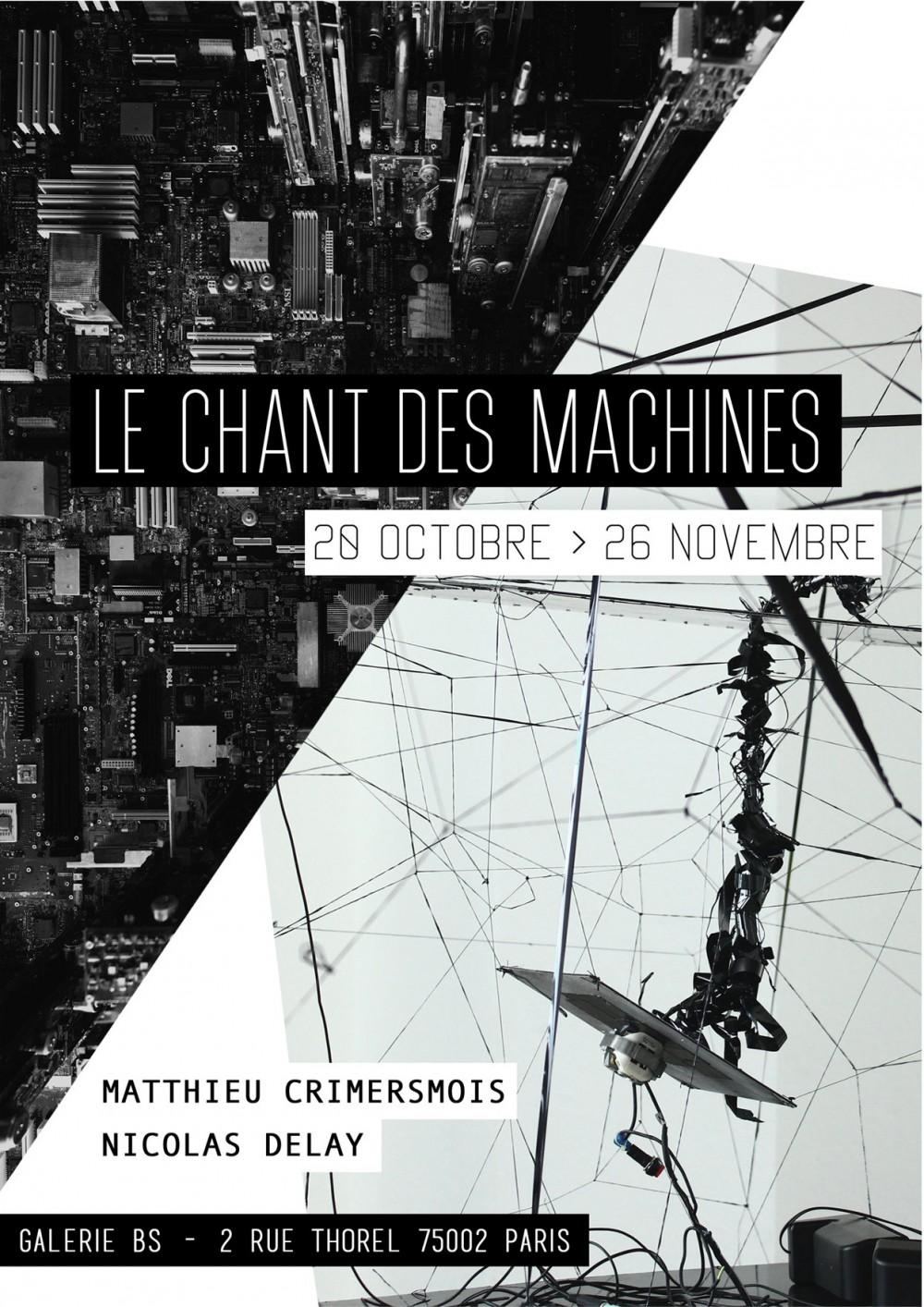 """vernissage de l'exposition """"le chant des machine"""" Delay / Crimersmois"""