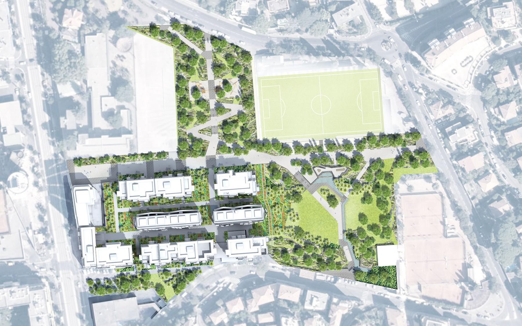Plan masse du parc du Ray