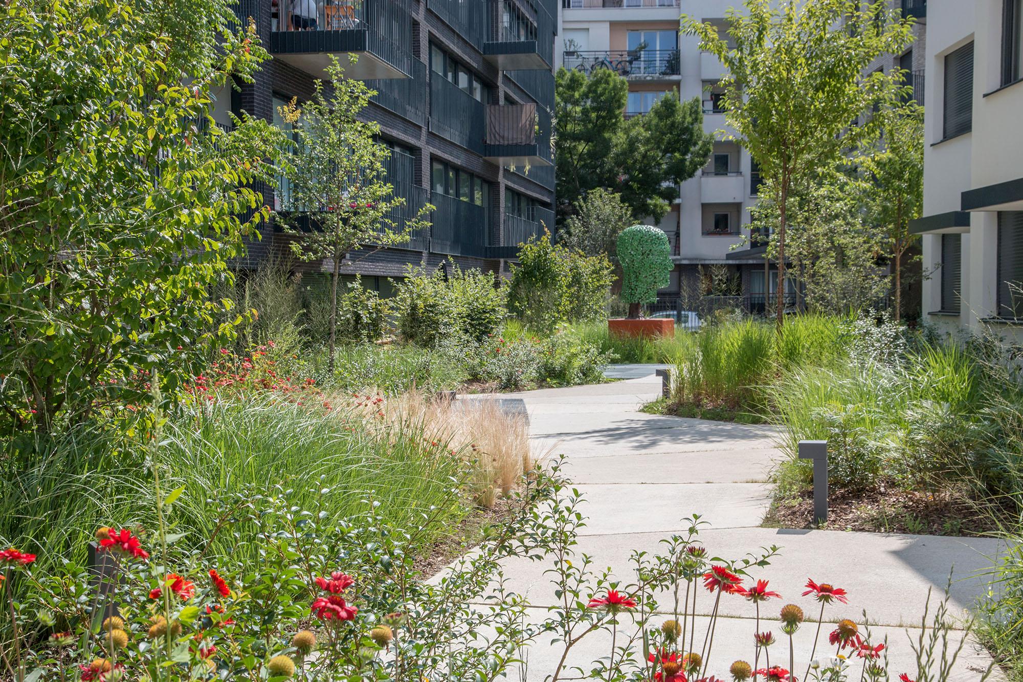 Les jardins chromatiques - Opération - Pantin Canal - Emerige