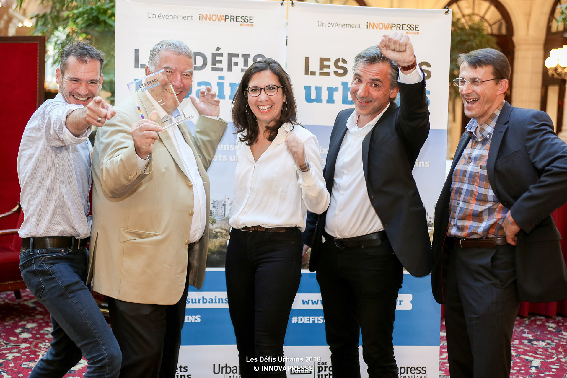 L'équipe du Parc de la Senne, un des projets Compagnie du Paysage primé aux défis urbains 2018