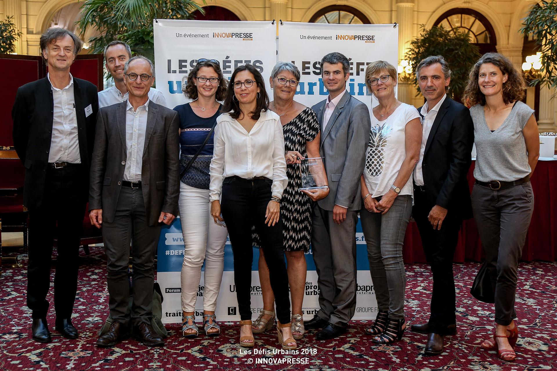 L'équipe de Notre-Dame-de-Gravenchon, un des projets Compagnie du Paysage primé aux défis urbains 2018