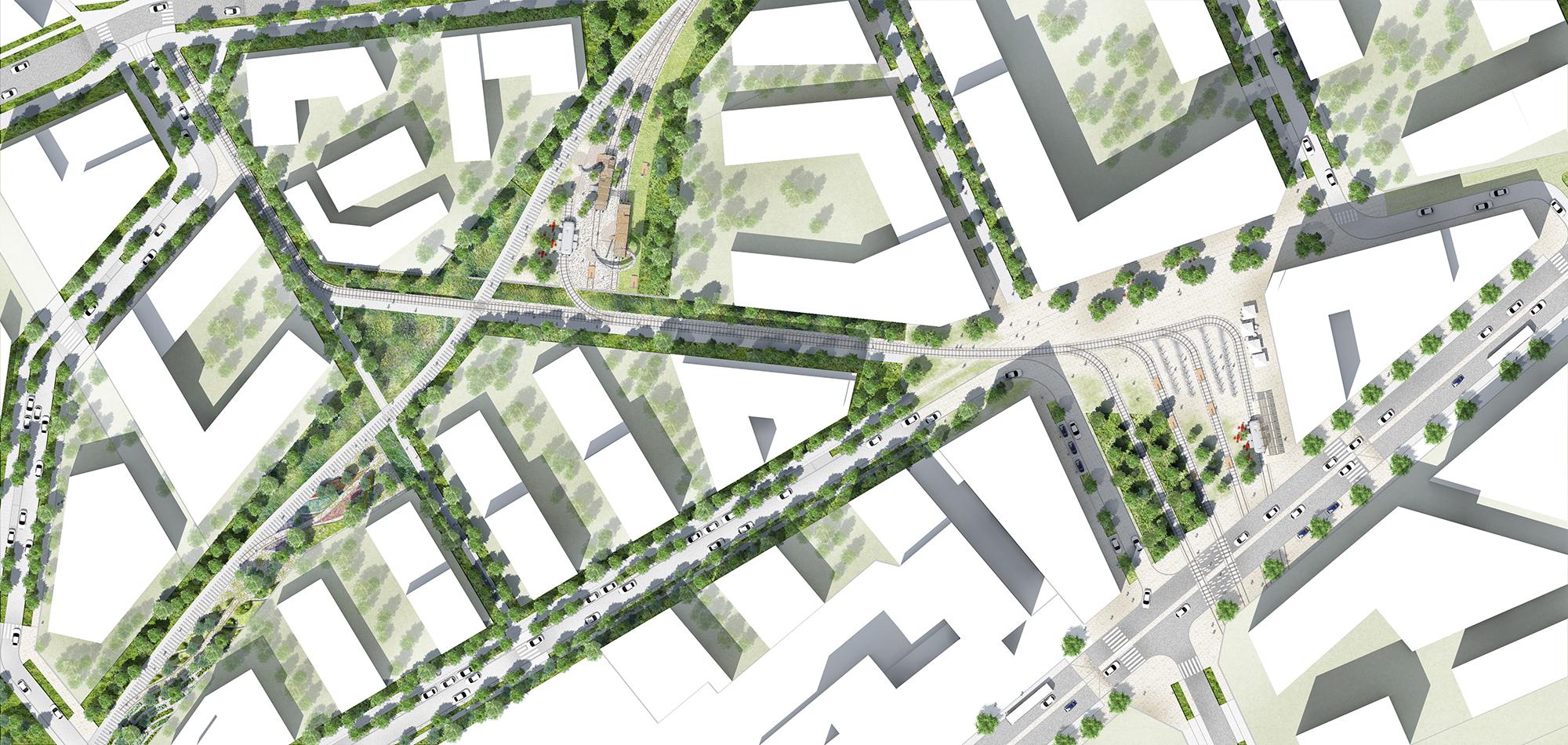 Plan masse du secteur Hanriot de la ZAC des Groues