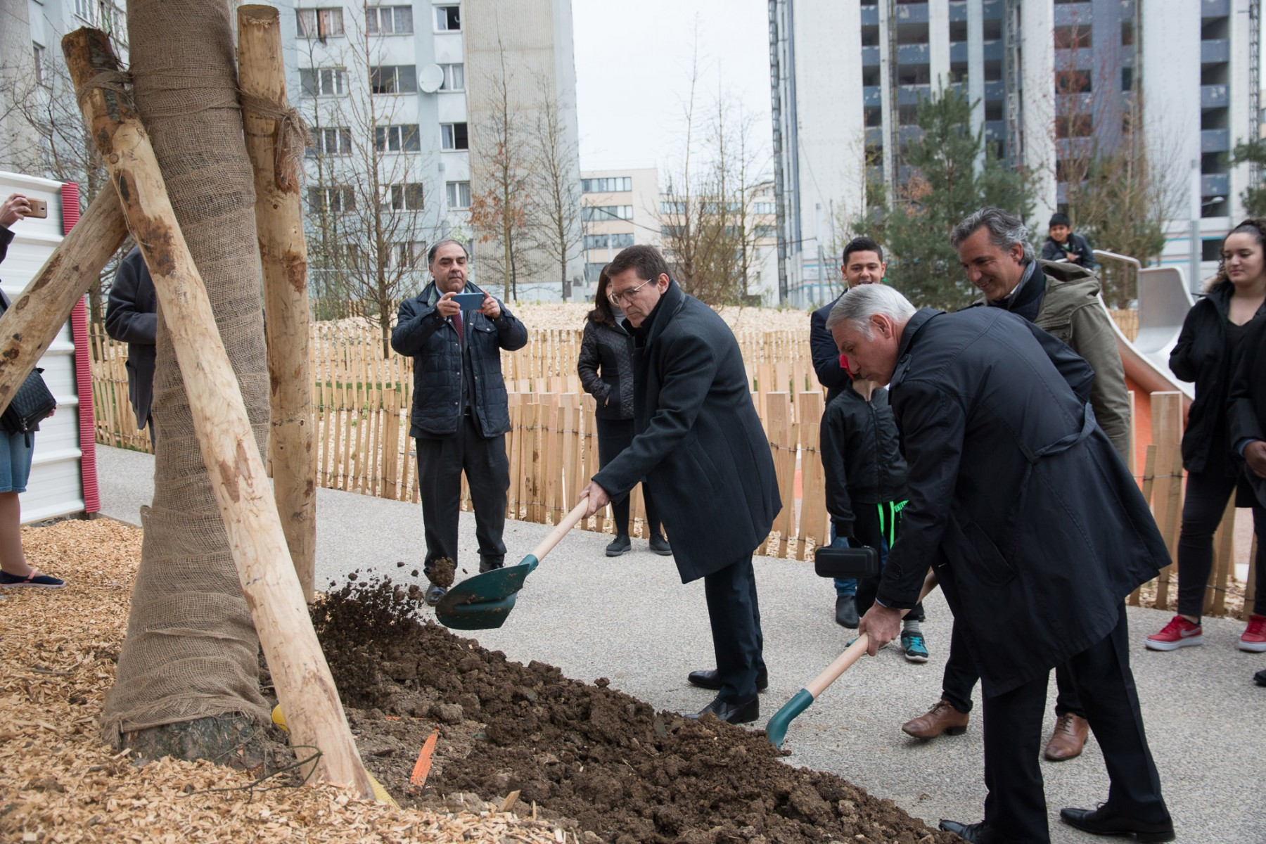 Inauguration du Jardin de Mevaseret Zion à Epinay-sur-Seine