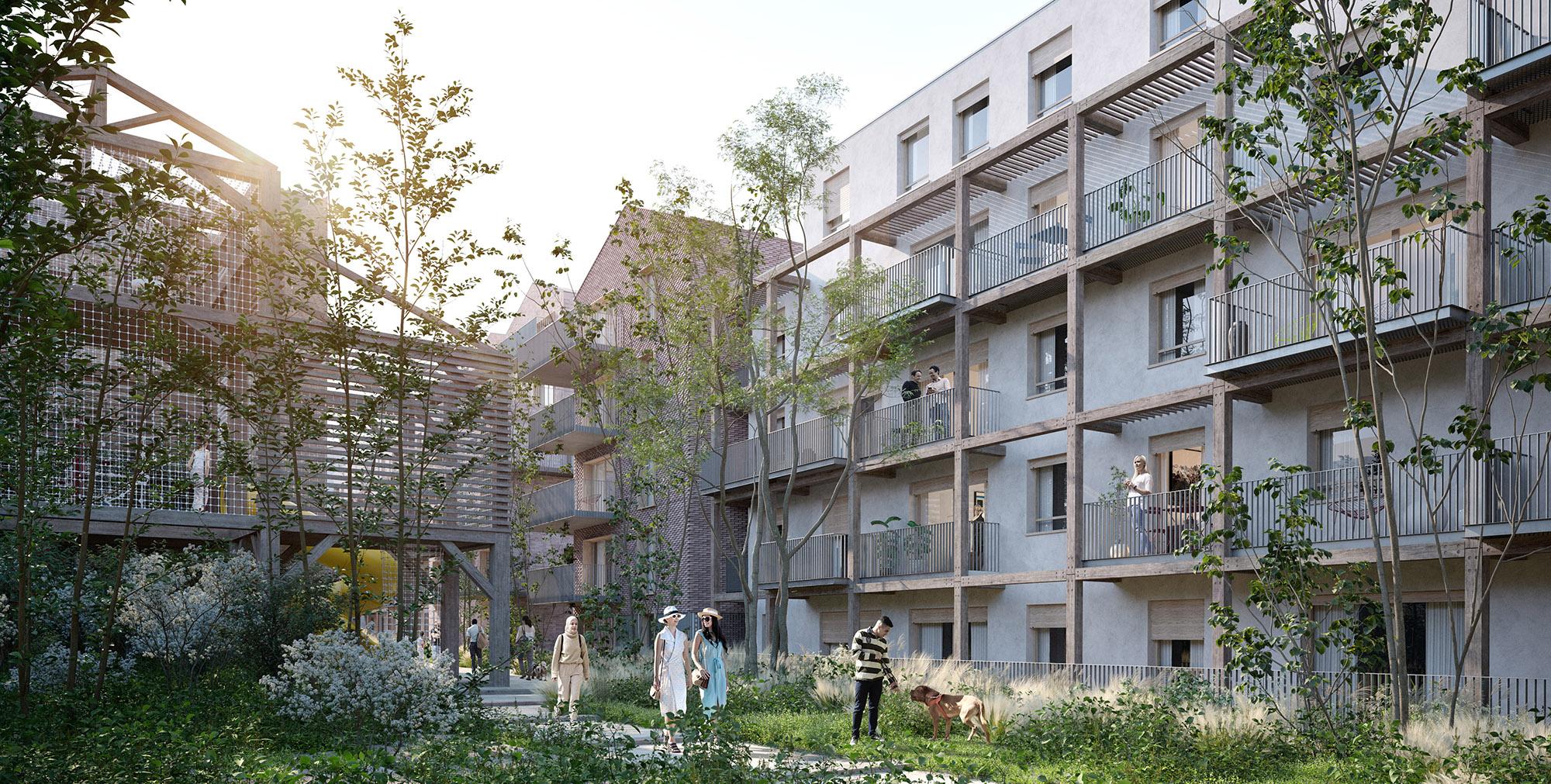 Forêt Busso  - Près-Saint-Gervais - Une architecture intégrée à la forêt nourricière