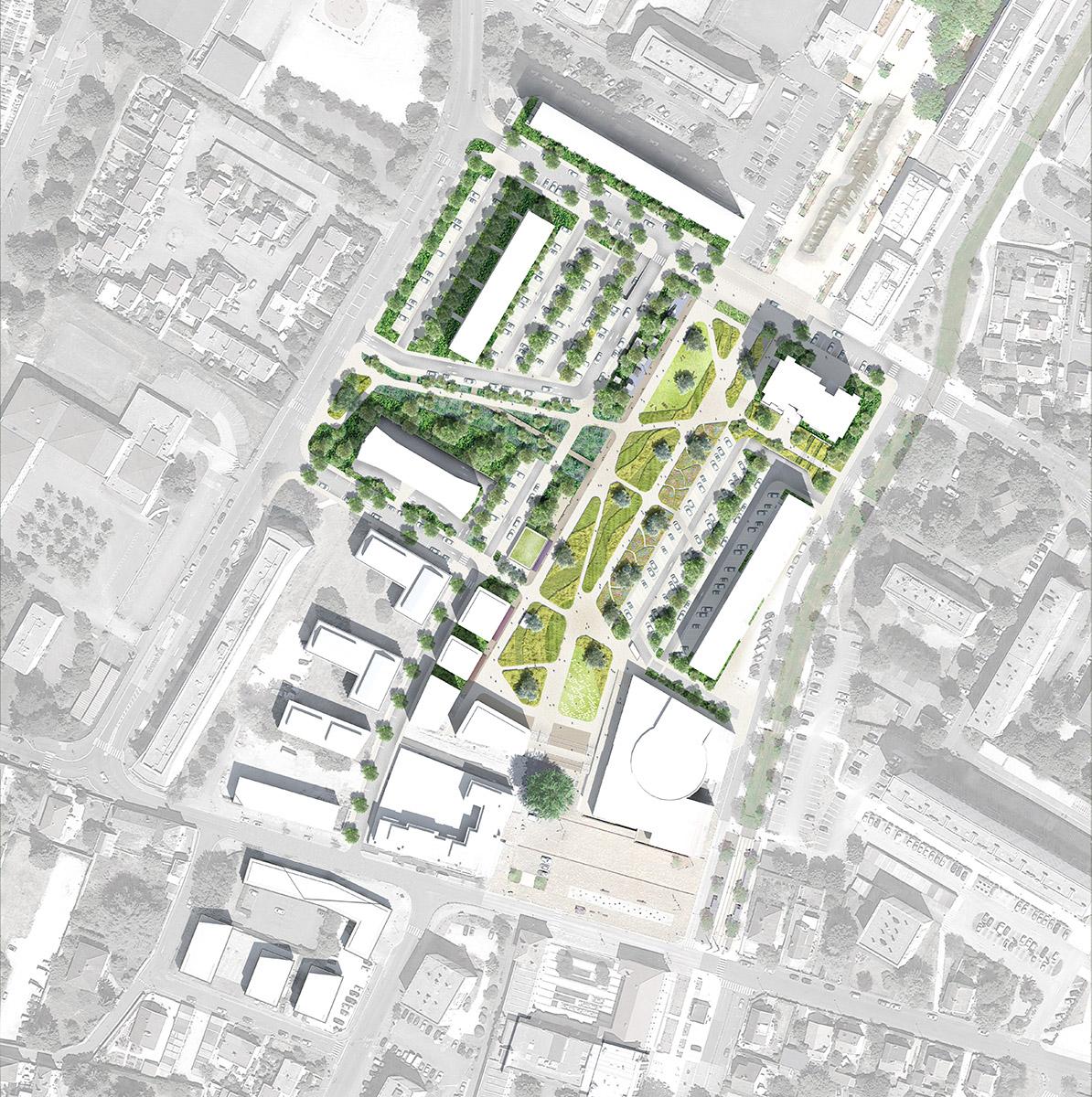 Chenôves - Saint-Exupéry - Plan masse