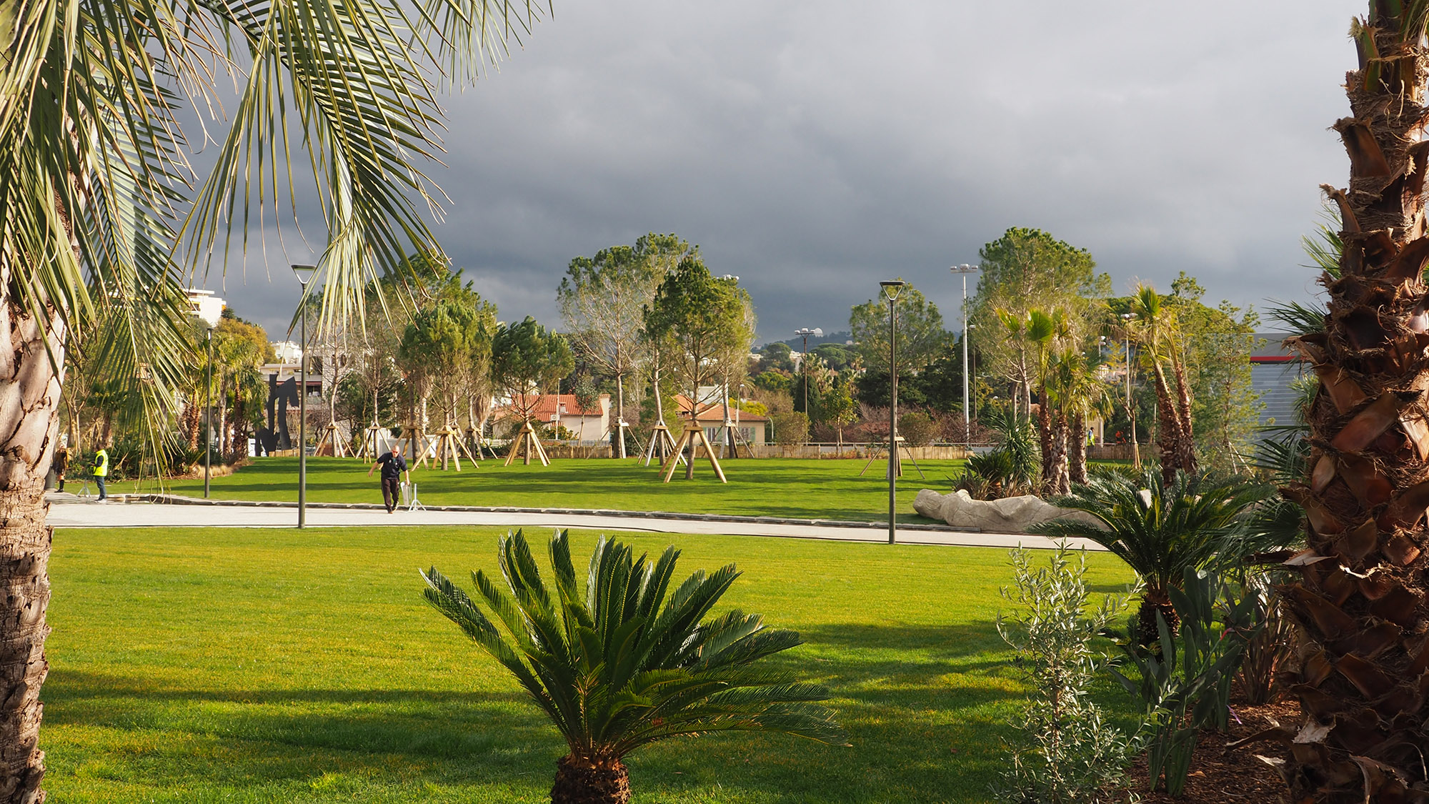 Parc du Ray - Nice - La grande pelouse