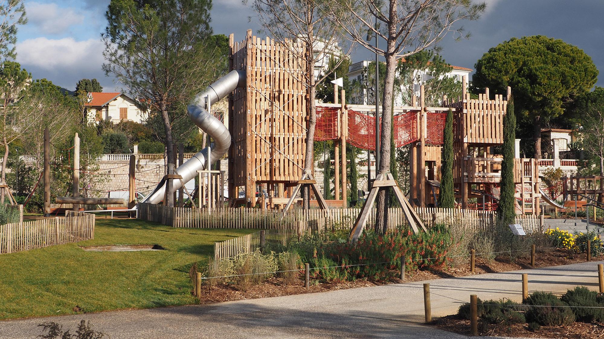 Parc du Ray - Nice - l'aire de jeux magistrale