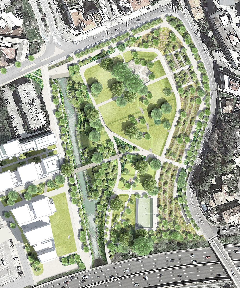 Parc des Canebiers - Cagnes-sur-Mer - Plan masse du futur parc des Canebiers
