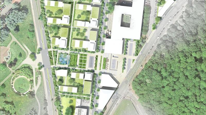 Celle-Saint-Cloud- cœur de ville - Plan masse