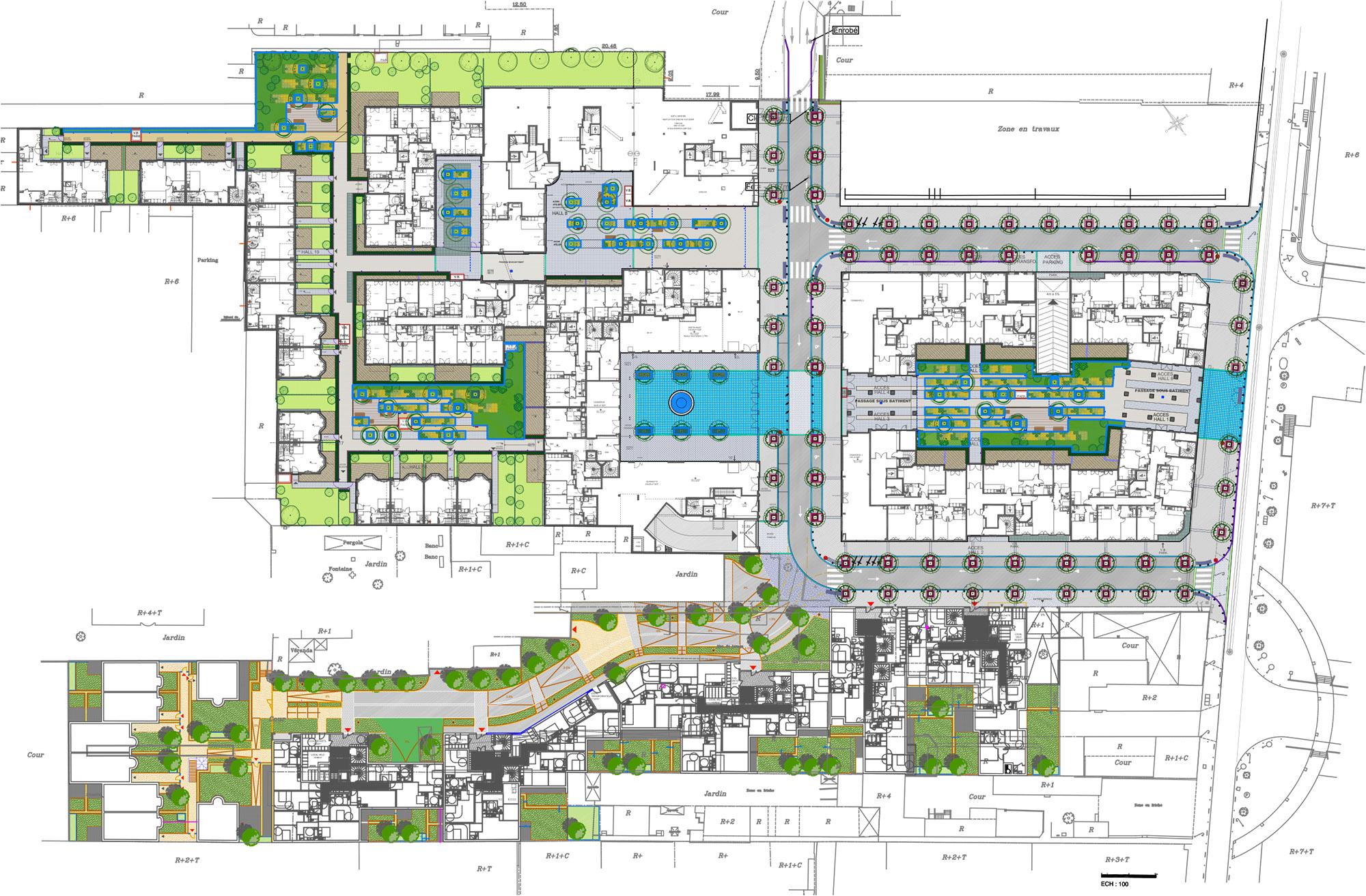 Quartier des Arts - Puteaux - Plan masse