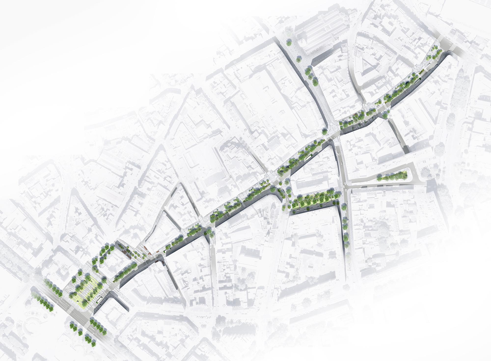 Plan masse - rue du Molinel - Ville de Lille