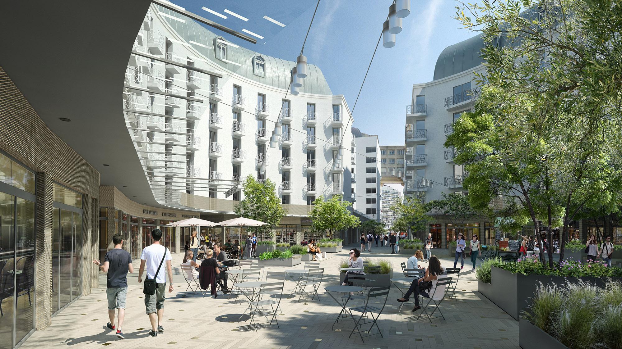 Perspective sur la place Gautier - Quartier Gautier-Ginoux Montrouge